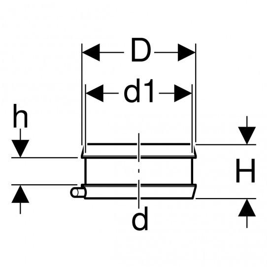 Электросварная лента Geberit для неподвижных опор