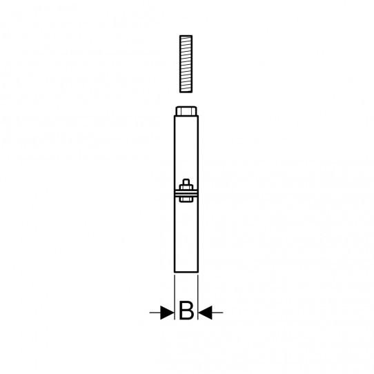 Хомут Geberit Pluvia с муфтой M16