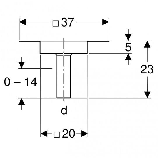 Крепление пароизоляции Geberit Pluvia