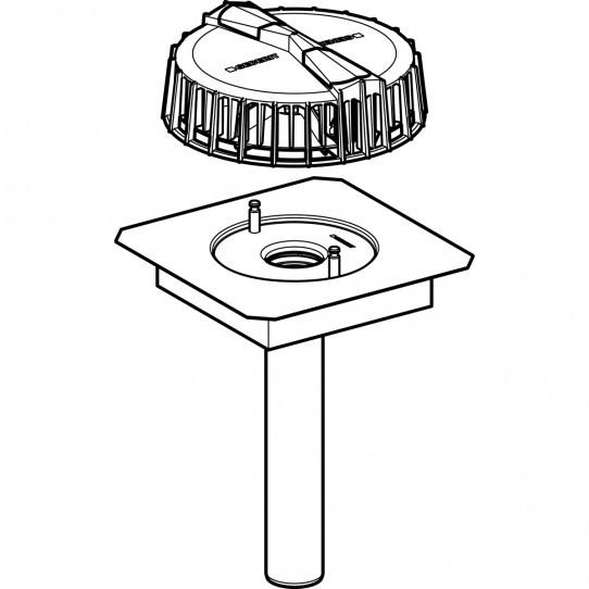 Воронка Geberit Pluvia с соединительным фартуком для желобов