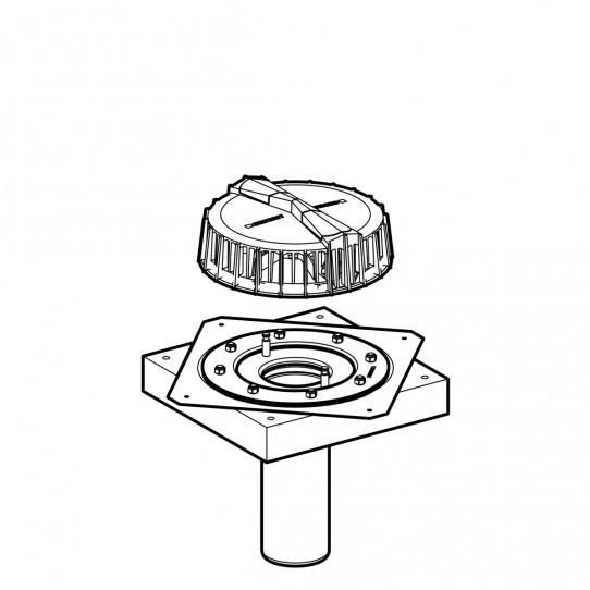Воронка Geberit Pluvia с крепежным фланцем, для кровельных покрытий